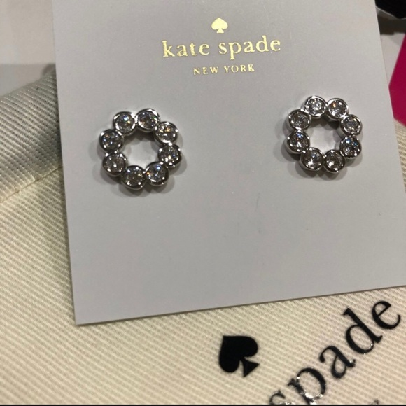 c69527ee35c62 Kate Spade ♠️ Full circle silver pave studs NWT